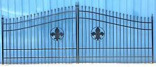 Wrought Iron Style Driveway Gate #1135 16'Ft Wd Steel Cast Outdoor Home Security