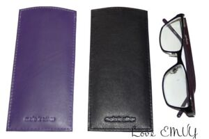 Mala Leather Glasses slip in Sleeve Case reading Lined genuine leather 557