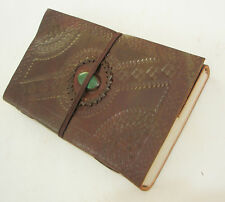 Leather Blank Grimoire Book of Shadows Handmade Wiccan Pagan Stone Antique Diary