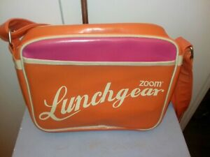 ZOOM LUNCHGEAR RETRO ORANGE/PINK COOLER BAG.ADJSTBL SHOULDER STRAP.USED ONCE.VGC