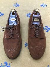 New John Lobb Mens Shoes Ltd Bespoke Brown Suede Lace Up UK 9 US 10 EU 43 Wide