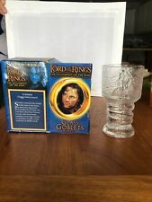Lord Of The Rings 2001 Strider Light Up Glass Goblet Nib Box Burger King Cup
