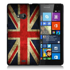 Coque pour Microsoft Nokia Lumia 535 impression Motif Drapeau Anglais UK vin