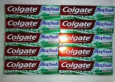 Lot of 10 Colgate Max Fresh MaxFresh Toothpaste Clean Mint 6 oz.