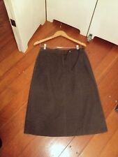 esprit brown cotton drill a line skirt