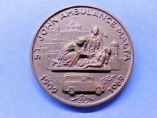 Malta St John Ambulance 60th Anniversary Boxed Commemorative Medal 1909-69