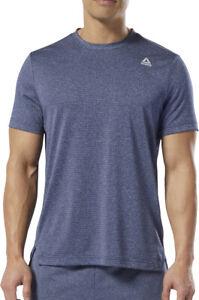 Reebok WOR Melange Tech Short Sleeve Mens Training Top - Blue