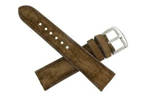 Handmade Genuine Brown Hippopotamus Leather Watch Strap (Made in U.S.A)