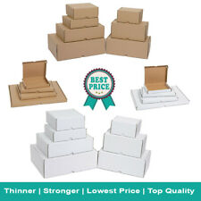 More details for white & brown shipping cardboard boxes small parcel large letter postal mailing