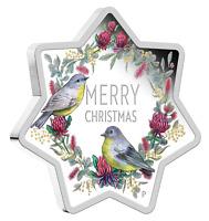 Christmas Tree 2020 1oz Australia Garland Star Shaped 1oz Silver Proof $1 Coin