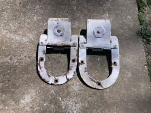 """Pair of Antique Sliding Door Rollers """"Big 4"""" National MFG. CO. Sterling, ILL."""