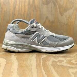 New Balance 990v3 Made in USA Sneakers Grey Castlerock White Men's Size 12 D