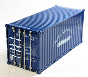 Rare Blue 1:30 20ft Caru West Gulf Container Metal DIECAST MODEL 1/30 21.5cm