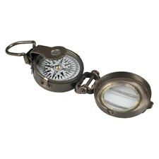 Authentic Models WWII POCKET COMPASS Polished Brass Glass REPLICA Collectable