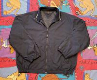 Vintage Navy Blue Tommy Hilfiger Mens Golf Full Zip Windbreaker Jacket SZ L