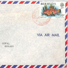 BT78 Bermuda 1978 *Hinson Island* Commercial Air Mail Cover *Perot* RED CDS FISH