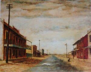 Hometown 1943 by Sir Russell Drysdale, Sofala,  Australian Landscape