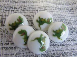 15mm Round Dinosaur Shank Buttons in Packs of 5, 10 or 20