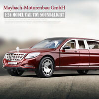 1:24 Mercedes Maybach S600 Limousine Diecast Metal Model Car Toy New in Box Wine