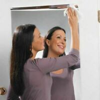 Wall Mirror Sticker Home Decor Reflective Self Adhesive Decal Silver 60*100cm