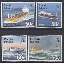 1985 PITCAIRN ISLANDS SHIPS PART I SET OF 4 FINE MINT MUH/MNH