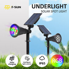 LED Solar Spot Lights Garden Yard Path Lamp Security Waterproof Wall Outdoor