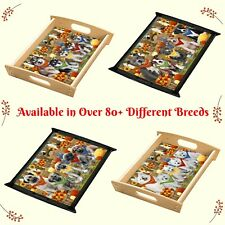 Fall Autumn Festival Gathering Food Serving Tray, Dogs, Cats, Pet Photo trays
