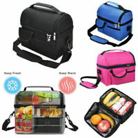 Insulated Lunch Bag For Women Kids Men Thermos Cooler Adults Tote Food Lunch Box