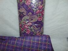 Purple Paisley Double Sided Pre-Quilted Fabric Bolt - 8 Yds - Factory Sealed