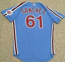 SANCHEZ #61 size 46 2020 PHILADELPHIA PHILLIES Home RETRO Game Jersey issue MLB