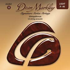 Dean Markley 2202 VintageBronze 12 String Acoustic Guitar Strings, Light, 9-46