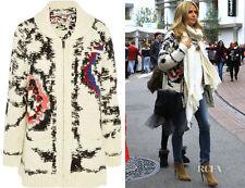"$920 ISABEL MARANT ""Serra"" Cardigan Sweater Coat SZ 42 Chunky Knit Ecru Boho"