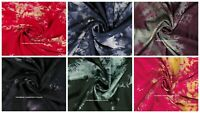 """Tie Dye Shibori Printed Viscose Rayon 45"""" Wide Fabric Sewing By The Meter Indian"""
