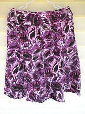 EAST 5TH Womens Purple Skirt size 10 M Knee Length A-Line Flare Linen Rayon