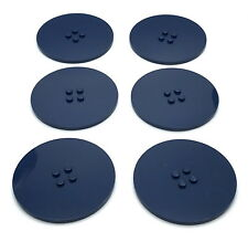 Lego Lot of 6 New Dark Blue Tiles Round 8 x 8 Dot Pieces