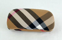 Burberry Nova Check Eyeglasses Sunglasses Clamshell Glasses Case FAB EUC