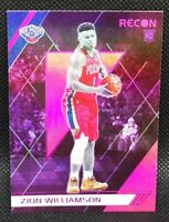 🏀 🎫 ZION WILLIAMSON PANINI CHRONICLES RECON PINK ROOKIE RC CARD #292 🎫🏀