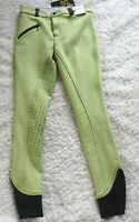 USG Kinder Reithose Eco Line, 3/4 Grip Vollbesatz, Gr.146, grün/braun