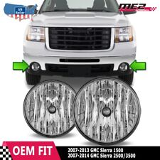 For GMC Sierra 07-14 Factory Bumper Replacement Fit Fog Lights DOT Clear Lens