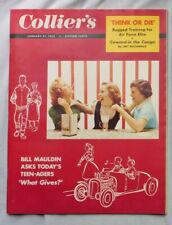 COLLIER'S Magazine January 21 1955 Bill Mauldin - Teenagers