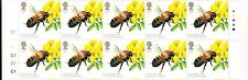 2015 GB QEII BEES £ 1.52 COMMEMORATIVE STAMP GUTTER BLOCK SG 3740 CYL C1 TL MNH