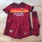 Nike AS Roma 2020-21 Kid's Football Home KIT Size 3-4 Years, Dark Red / Maroon