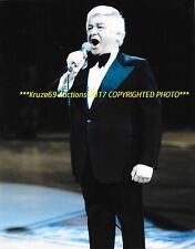 ROGER DOUCET Sings O CANADA ANTHEM 8x10 Photo LEGENDARY SINGER Montreal FORUM~@@