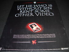 Madonna Let He Who Is Without Sin.Rent Madonna 1994 Promo Display Ad