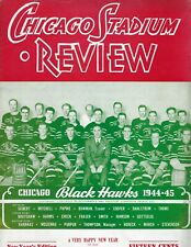 1944 12/31 Hockey program Detroit Red Wings Chicago Blackhawks, unscored