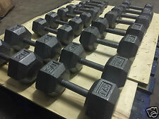 Cast Iron Hex Dumbbells - Full Set 2kg to 20kgs! In Silver Commercial Gym Use