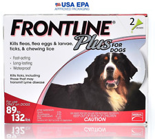 Merial FRONTLINE PLUS Flea & Tick Control X-Large Dog 89-132 lbs 2 Month NO BOX