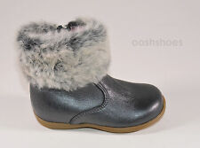 Bo-bell Infant Girls Tundra Grey Leather Zip Boots UK 4 EU 20 US 4.5 RRP £47
