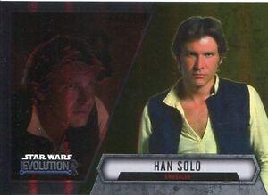 Star Wars Evolution 2016 Gold Parallel Card #40 Han Solo