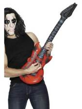 INFLATABLE GUITAR, ASSORTED COLOURS, 1970'S DISCO FANCY DRESS #CA